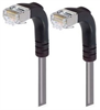 Shielded Category 6 Right Angle Patch Cable, Right Angle Down/Right Angle Down, Gray, 25.0 ft -- TRD695SRA3GRY-25 -- View Larger Image