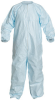 Dupont Micro-Clean Blue 3XL Tyvek Cleanroom Coveralls - Fits 30 1/2 in Chest - ISO Class 5 Rating - Individually Wrapped - 34 3/4 in Inseam - CC252BBU3X0025PI -- CC252BBU3X0025PI