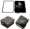 14x12x06 Polycarbonate Weatherproof NEMA 4X Enclosure, Modified Base Clear Lid Black -- NBBWPC141206-02 -Image