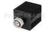 25 Watt RF Load Up to 7 GHz With 7/16 DIN Male Input Square Body Black Anodized Aluminum Heatsink -- PE6107 -Image
