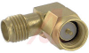 connector,rf coaxial,sma in-series adapter,rt angle plug to jack,gold plated -- 70142727