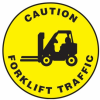 Caution Forklift Traffic Slip-Gard Floor Sign -- SGN829 - Image