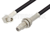 SMC Plug Right Angle to SMC Jack Bulkhead Cable 24 Inch Length Using RG174 Coax -- PE34078-24 -- View Larger Image