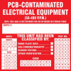 PCB Contaminated Electrical Equipment Label -- SGN683