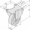 Castor D125 fixed, heavy-duty -- 0.0.488.40 - Image