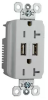 Combination Switch/Receptacle -- TR-5362USBW -- View Larger Image