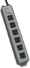 Waber-by-Tripp Lite 6-Outlet Industrial Power Strip, 15-ft. Cord, Locking Switch Cover -- UL24CB-15