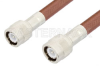 C Male to C Male Cable 60 Inch Length Using RG393 Coax, RoHS -- PE3120LF-60 -Image