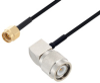 SMA Male to TNC Male Right Angle Cable 36 Inch Length Using PE-SR405FLJ Coax -- PE3W07181-36 -Image