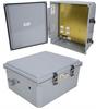 14x12x06 Polycarb Weatherproof NEMA 4X Enclosure, 120VAC Mount Plate Mech Thermostat Heat Dark Gray -- NBPC141206-1H0 -Image