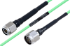 Temperature Conditioned TNC Male to N Male Low Loss Cable 24 Inch Length Using PE-P160LL Coax -- PE3M0207-24 -- View Larger Image