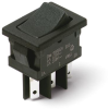 Miniature 2 Pole Power Rocker Switches -- DM Series