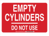 Gas Cylinder Status Sign -- 103854