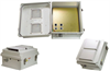 14x12x7 Inch Vented Enclosure with 802.3af compatible PoE Interface w/Cat 5 Surge Protection -- NB141207-40V -Image