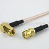 SMA Female to RA SMC Plug Cable RG-316 Coax in 60 Inch -- FMC1328315-60 -Image