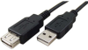 15' USB 2.0 Extension Cable, A-A, M-F, Black -- 85-584