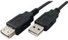 3' USB 2.0 Extension Cable, A-A, M-F, Black -- 150109BK