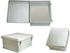18x16x8 Inch Weatherproof NEMA 4X Enclosure with Blank Non-Metallic Mounting Plate -- NB181608-KIT01 -Image