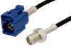 SMA Female to Blue FAKRA Jack Cable 60 Inch Length Using RG174 Coax -- PE39350C-60 -- View Larger Image