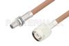 Slide-On BMA Plug Bulkhead to TNC Male Cable 6 Inch Length Using RG400 Coax -- PE3C4961-6 -Image