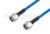 Plenum N Male to N Male Low PIM Cable 200 CM Length Using SPP-250-LLPL Coax , LF Solder -- PE3C4137-200CM -Image