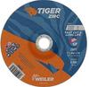Weiler TIGER Zirconia Alumina Cutting Wheel - Type 27 - Depressed Center Wheel - 7 in Diameter - 7/8 in Center Hole - Thickness.060 in - 58023 -- 012382-58023 - Image