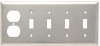 Combination Wall Plate, 4 Toggle Switch -- SS48 - Image