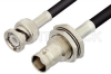 BNC Male to BNC Female Bulkhead Cable 60 Inch Length Using RG223 Coax -- PE3557-60 -Image