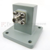 WR-90 to SMA Female Waveguide to Coax Adapter Square Cover Standard with 8.2 GHz to 12.4 GHz in Aluminum -- SMW90AC