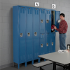 HALLOWELL Premium Steel Lockers - 2-Tier Locker -- 5796593