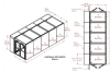 5-Unit Tunnel Low Profile Double Door Air Shower -- CAP701LP-ST5-73306