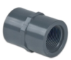 Schedule 80; Gray Coupling PVC Threaded -- 27220