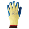 Ansell PowerFlex 80-602 Yellow/Blue 9 Knit Cut-Resistant Glove - ANSI 4 Cut Resistance - Rubber Palm Coating - 076490-03527 -- 076490-03527-Image