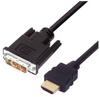 Premium DVI to HDMI Cable Assembly, HDMI-M/DVI-D Single Link-M 4.0M -- MDA00049-4M -Image
