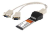 StarTech.com 2 Port Native ExpressCard RS232 Serial Adapter Card with 16952 UART - Serial adapter - ExpressCard/34 -- DU5986