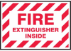 Fire Extinguisher Inside Label -- SGN462 -Image