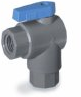 Ball valve, 2-way right angled, EPDM, 3/8