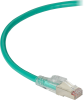 10FT Green CAT6A 650MHz Patch Cable F/UTP CM Locking Snagless -- C6APC80S-GN-10 - Image