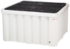 PIG Heavy-Duty Poly IBC Spill Containment Unit with Drain -- PAK1007