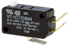 V7 Series Miniature Basic Switch, Single Pole Double Throw Circuitry, 15.10 A at 250 Vac, Pin Plunger Actuator, 150 gf Maximum Operating Force, Silver Contacts, Quick Connect Termination, CSA, UL -- V7-1C17D844