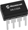 32Kbit Serial EEPROM Memory Chip -- 24LC32A -Image