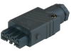 Rectangular Field Attachable Power Connector (ST Series): Female, straight with strain relief , 4-pin+PE, black housing, 400 V AC/230 V DC, 10 A -- STAK 4 black - Image