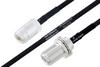 MIL-DTL-17 N Female to N Female Bulkhead Cable 200 cm Length Using M17/84-RG223 Coax -- PE3M0040-200CM -Image