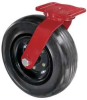 Rigid Solid Rubber Wheel Caster,5-1/8