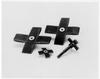 Standard Abrasives 727360 A/Z Alumina Zirconia AZ Cross Pad 60 Grit - 3 1/2 in Width x 3 1/2 in Length - 2 in Pad Thickness - 41414 -- 051115-41414 - Image