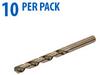 Jobber Drill Bit: heavy duty HSS-Co5, 25/64 inch diameter, 10/pk -- 215822 -- View Larger Image