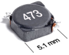 MSS5131H Series Shielded Surface Mount Power Inductors -- MSS5131H-104 -Image