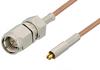 SMA Male to MC-Card Plug Cable 60 Inch Length Using RG178 Coax -- PE36110-60 -Image