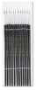 Artist Brush, Size 1, Camel Hair, Round, 12/Pack -- LEO73501 - Image