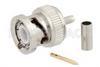 BNC Male Connector Crimp/Crimp Attachment for .100 inch, RG316, RG174, RG188, LMR-100, LMR-100, LMR-100-FR, PE-C100, PE-B100 -- PE45045 -Image